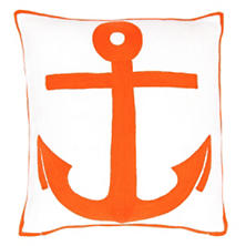 Fresh American Admiral Tangerine Indoor/Outdoor Pillow