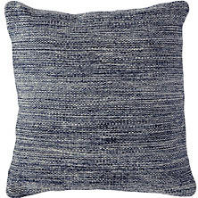 Fresh American Mingled Navy Indoor/Outdoor Pillow