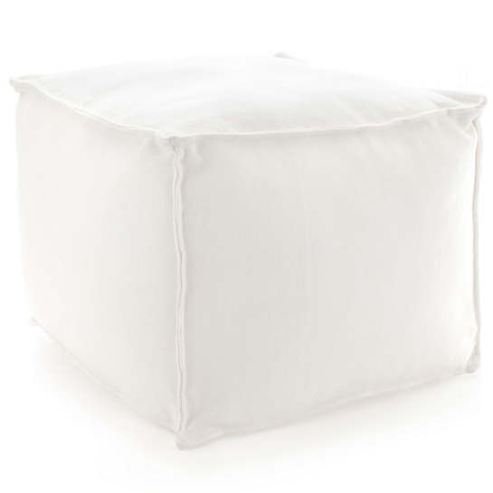 solid white pouf