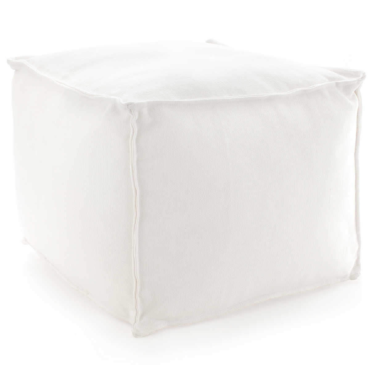 Black And White Pouf Solid White Indoor Outdoor Pouf Fresh American