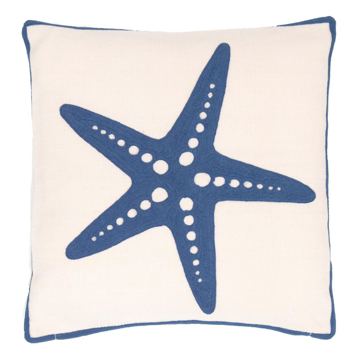Starfish Denim Indoor/Outdoor Pillow