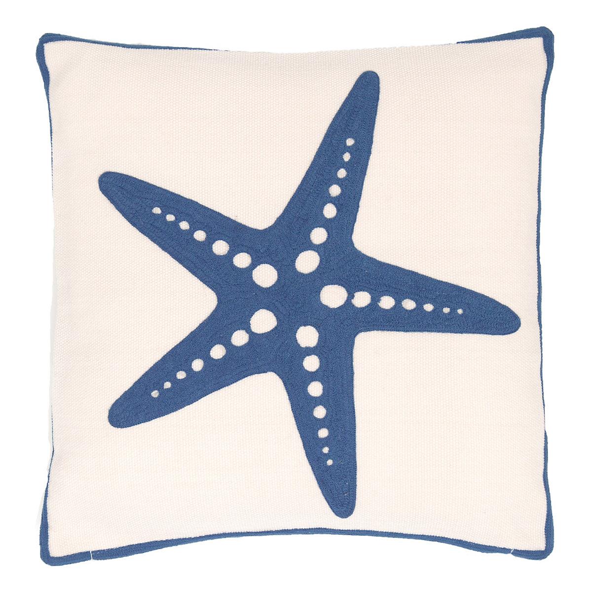 starfish denim indoor outdoor pillow fresh american. Black Bedroom Furniture Sets. Home Design Ideas