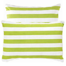 Fresh American Trimaran Stripe Apple/White Indoor/Outdoor Pillow