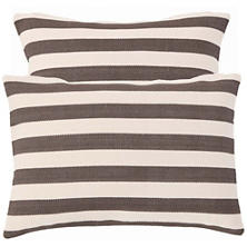 Trimaran Stripe Charcoal Indoor/Outdoor Pillow