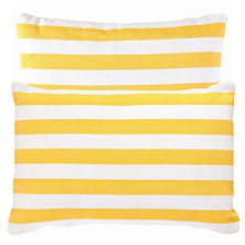 Fresh American Trimaran Stripe Daffodil/White Indoor/Outdoor Pillow