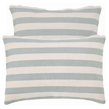 Trimaran Stripe Light Blue/Ivory Indoor/Outdoor Pillow