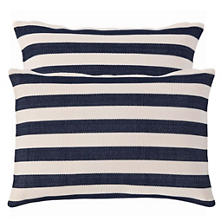 Trimaran Stripe Navy/Ivory Indoor/Outdoor Pillow