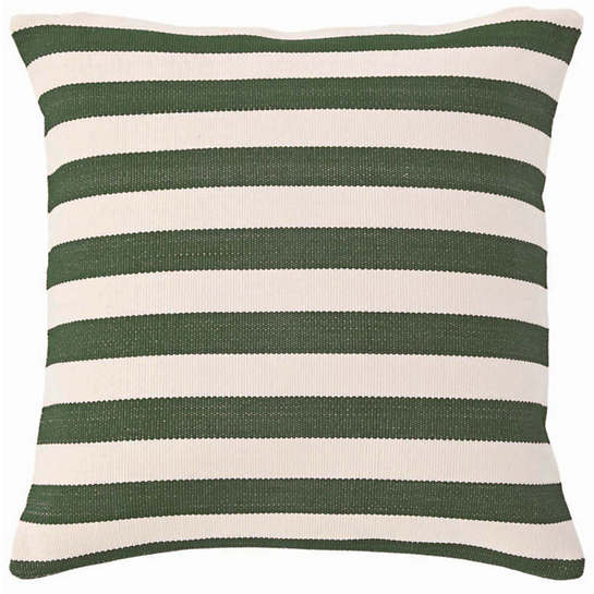 Fresh American Trimaran Stripe Pine/Ivory Indoor/Outdoor Pillow