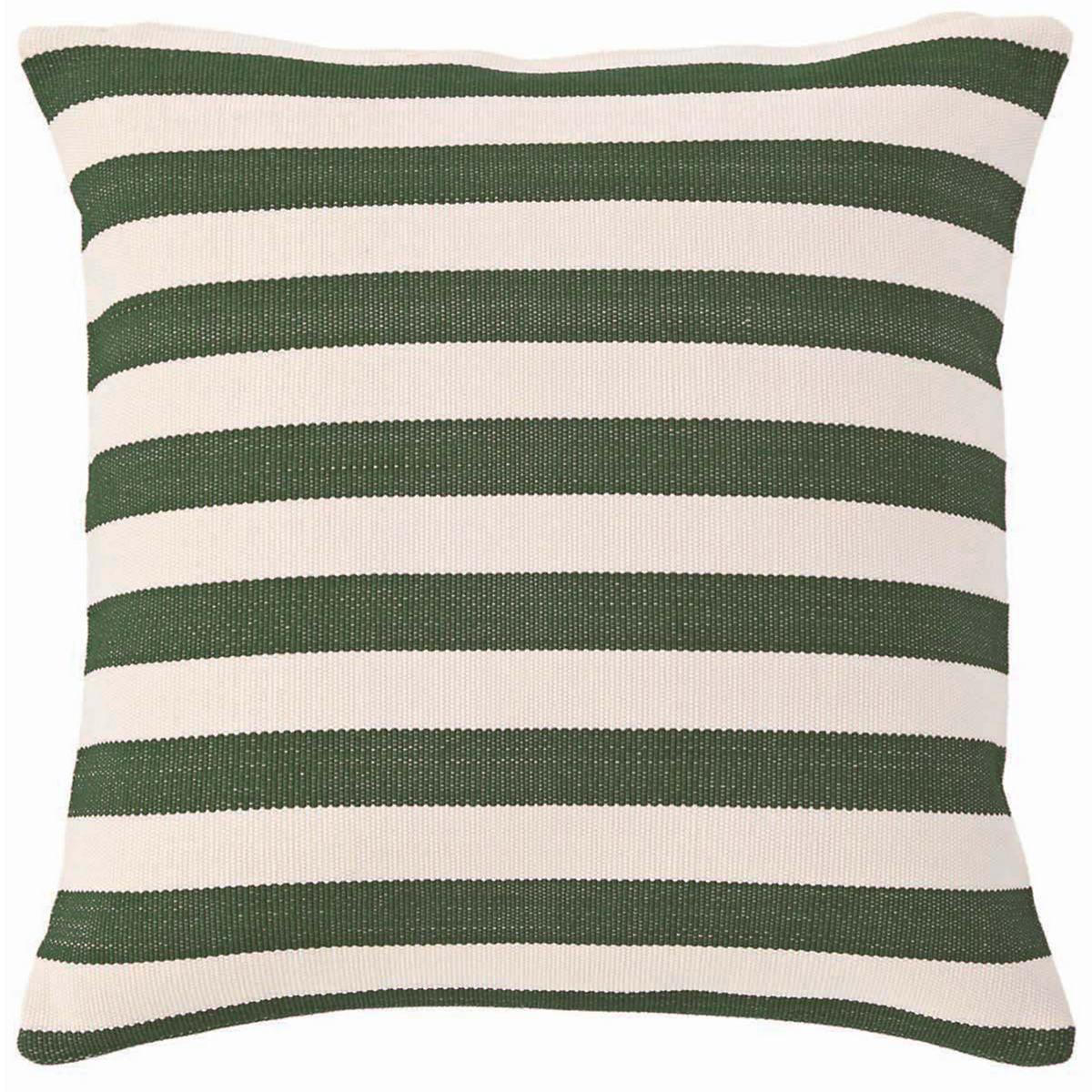 Trimaran Stripe Pine/Ivory Indoor/Outdoor Pillow