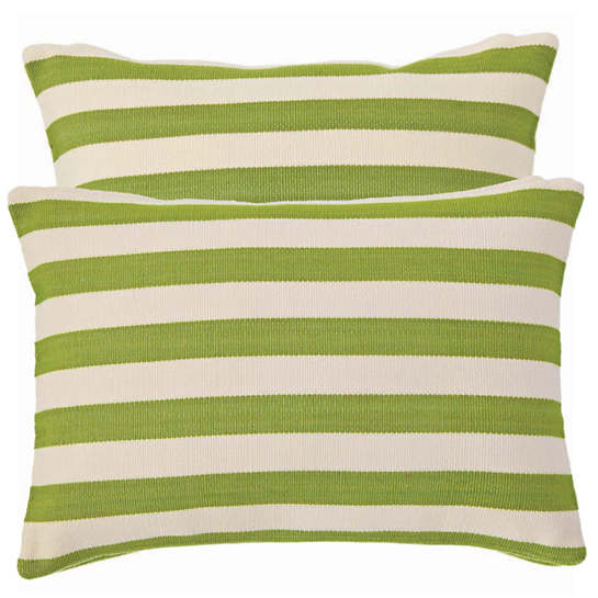Fresh American Trimaran Stripe Sprout/Ivory Indoor/Outdoor Pillow
