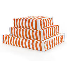 Fresh American Trimaran Stripe Tangerine/White Indoor/Outdoor WOUF™