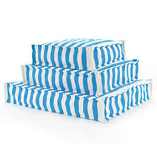 Fresh American Trimaran Stripe Turquoise/White Indoor/Outdoor WOUF™