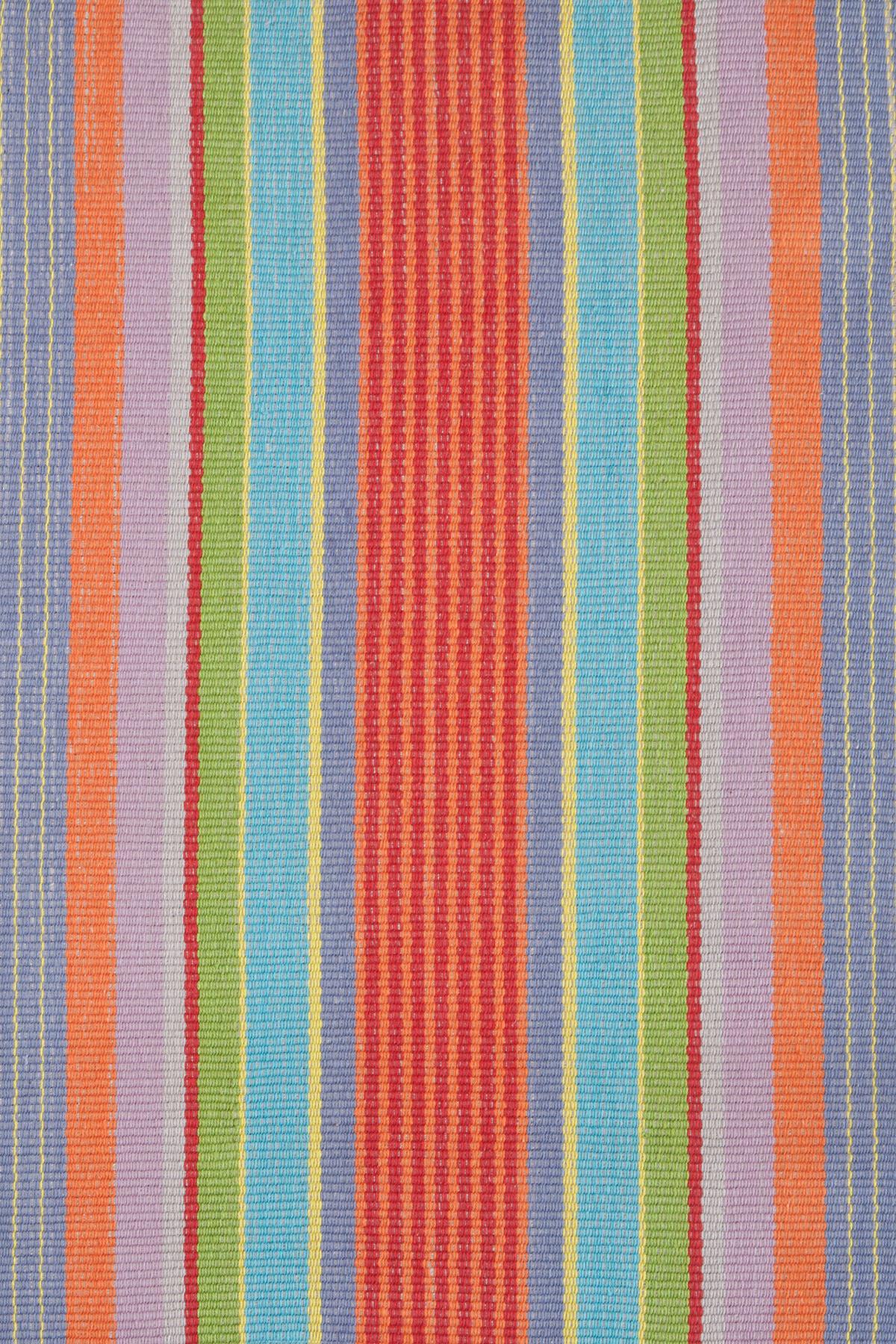 Garden Stripe Woven Cotton Rug