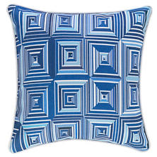 Geo Blue Indoor/Outdoor Decorative Pillow