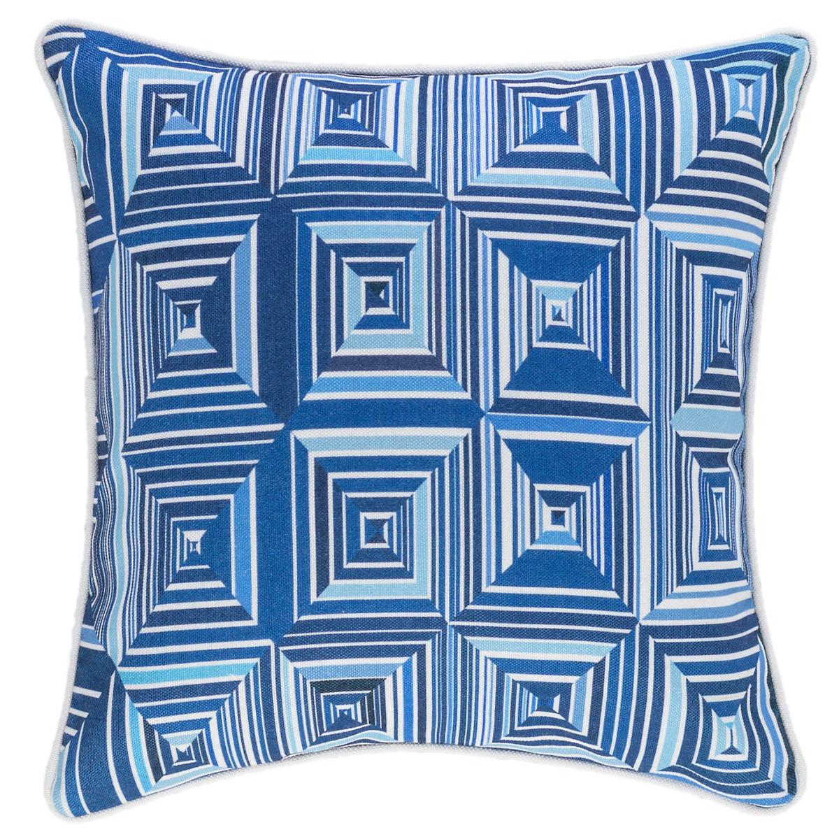 Geo Blue Indoor/Outdoor Decorative Pillow