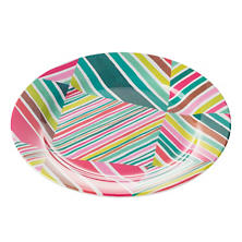 Geo Bright Melamine Dinner Plate/Set Of 4