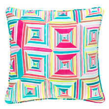 Geo Floral Bright Decorative Pillow
