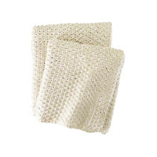 Glamour Knit Gold Throw