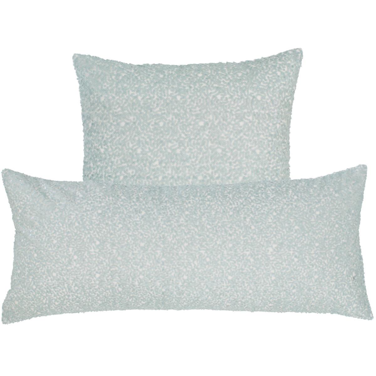Glaze Sequin Robin's Egg Blue Decorative Pillow