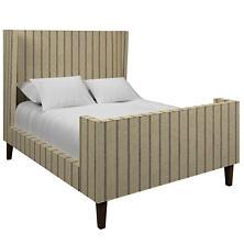 Glendale Stripe Navy/Brown Greenwich Bed