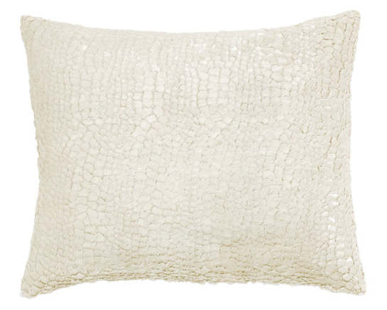 Gloss Velvet Ivory Decorative Pillow