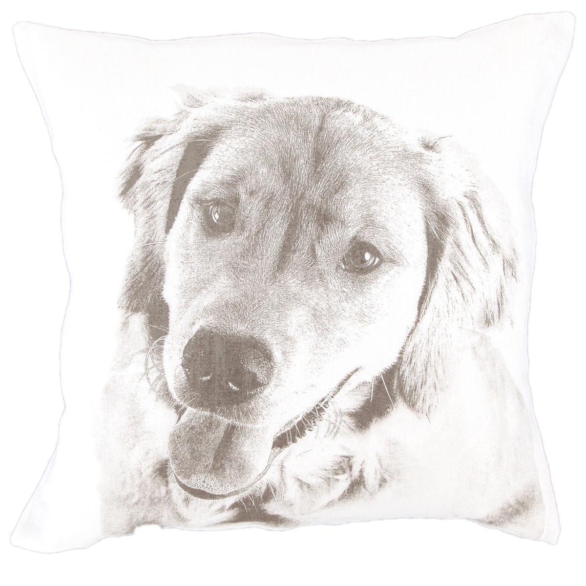 Golden White Decorative Pillow