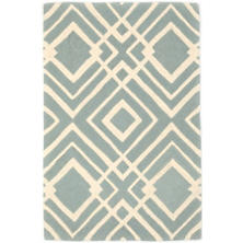 Gracie Blue Tufted/Carved Wool Rug