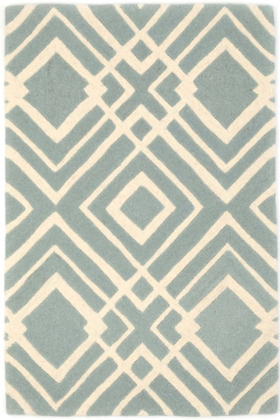 Gracie Blue Wool Tufted Rug