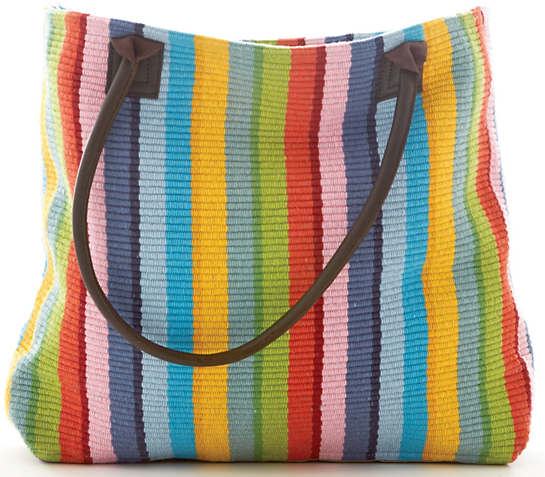 Granada Stripe Cotton Woven Tote Bag