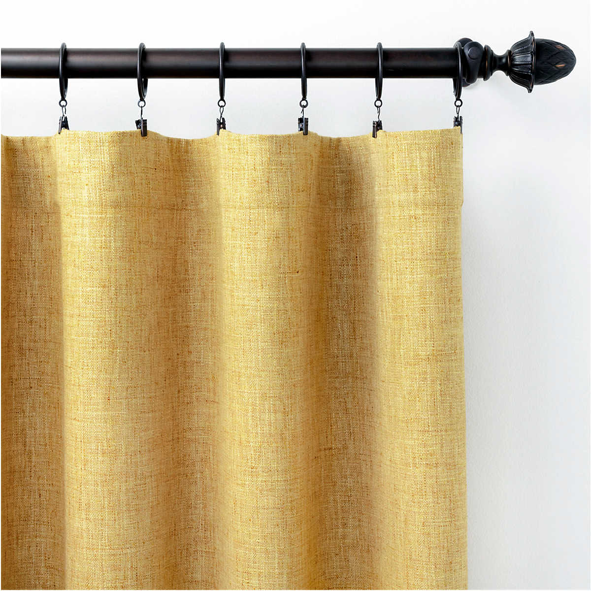 Greylock Gold Indoor Outdoor Curtain Panel Pine Cone Hill