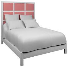 Estate Linen Coral Grid Block Bed