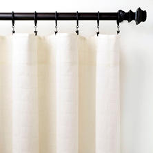 Grid Stitch Ivory Curtain Panel
