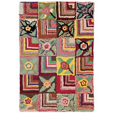 Gypsy Rose Wool Hooked Rug