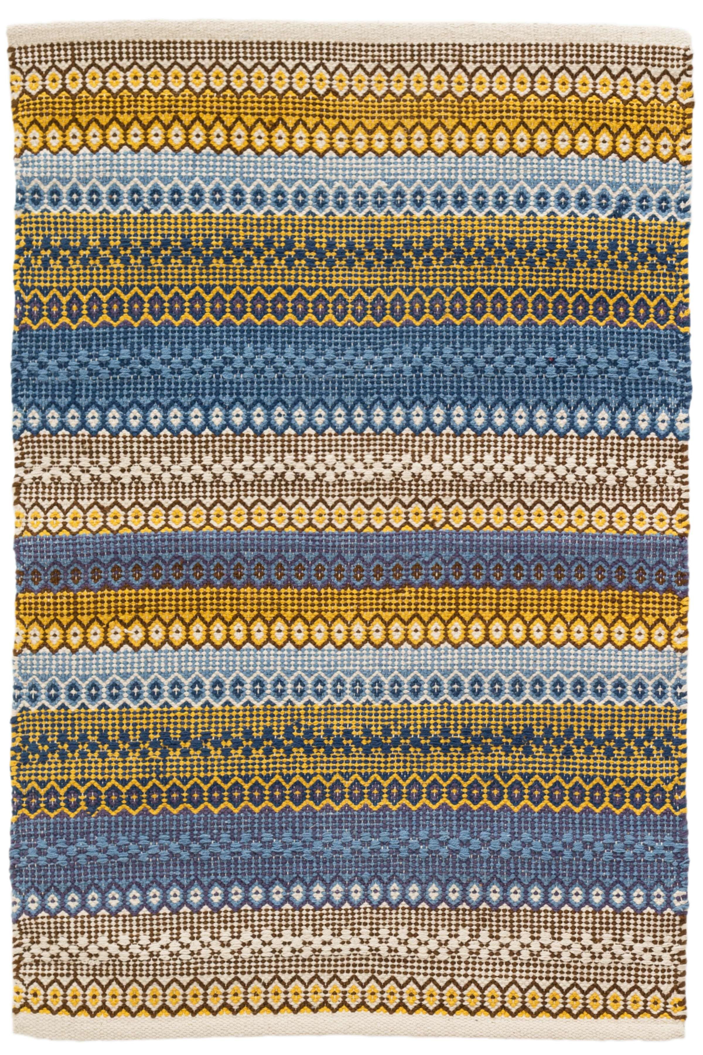 Design Yellow Rug gypsy stripe denimyellow woven cotton rug dash albert