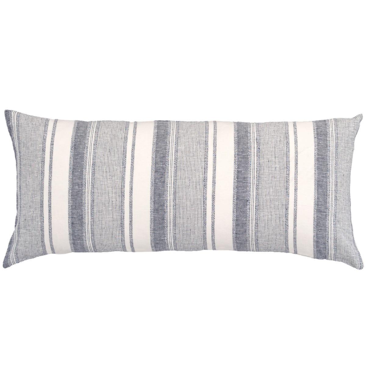 Hampton Ticking Linen Indigo Decorative Pillow