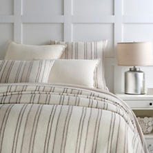 Hampton Ticking Linen Natural Duvet Cover