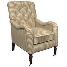 Adams Ticking Brown Hancock Chair