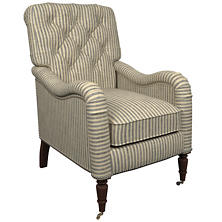 Adams Ticking Navy Hancock Chair