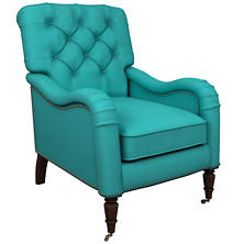 Estate Linen Turquoise Hancock Chair