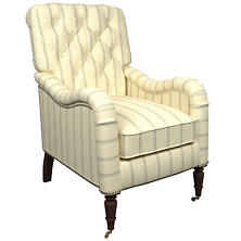 Glendale Stripe Light Blue/Natural Hancock Chair