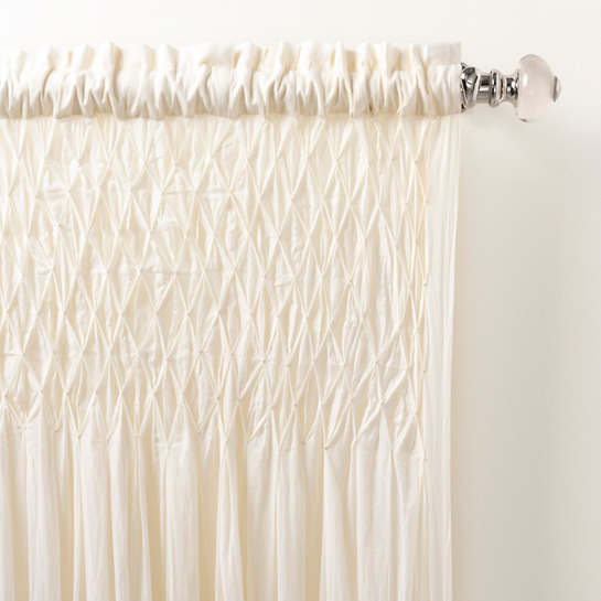 Heirloom Voile Ivory Curtain Panel Pine Cone Hill
