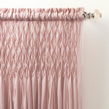 Heirloom Voile Slipper Pink Curtain Panel