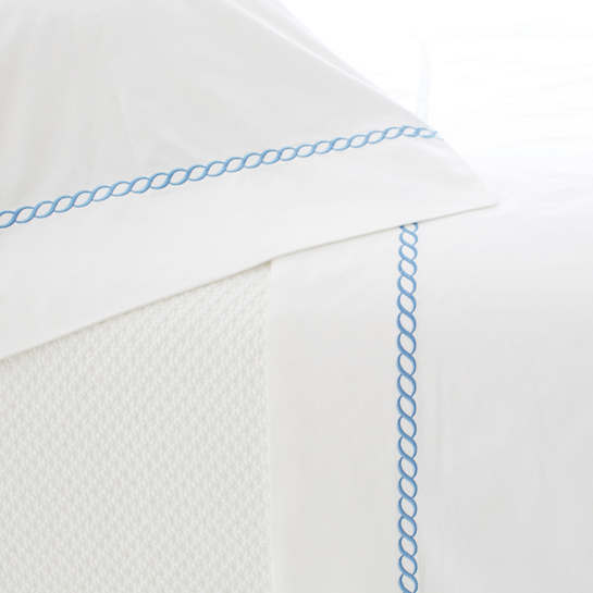 Helix French Blue Pillowcases (Pair)