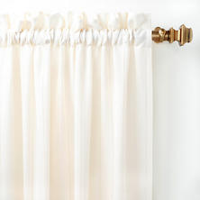 Hemstitch Stripe Ivory Curtain Panel