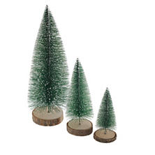 Heritage Bottle Brush Trees/Set Of 3