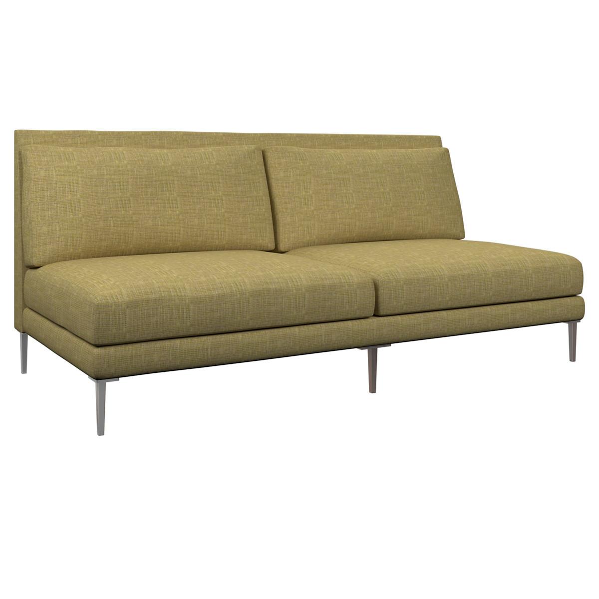 Heritage Chartreuse Portola Armless Sofa