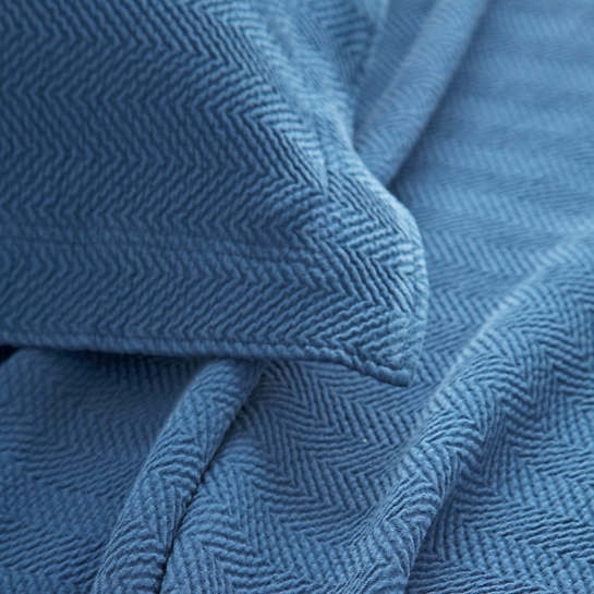 Herringbone Denim Matelassé Coverlet
