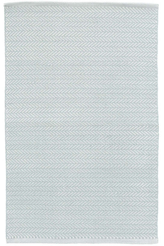 Herringbone Light Blue/Ivory Indoor/Outdoor Rug | Dash & Albert