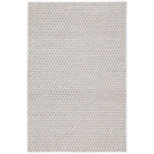 Honeycomb Ivory/Grey Wool Woven Rug