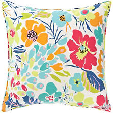 Hot House Floral Summer Decorative Pillow
